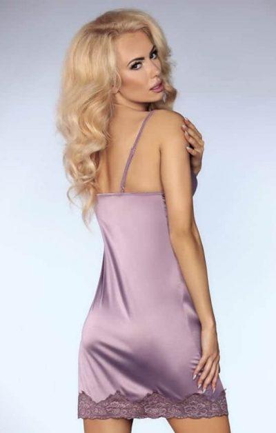 Noelle Chemise purple - Back - Livia Corsetti - Nightwear By Valerie