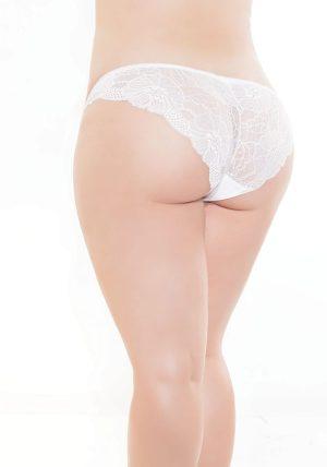 High Cut Brief hvit - Back - Coquette By Valerie