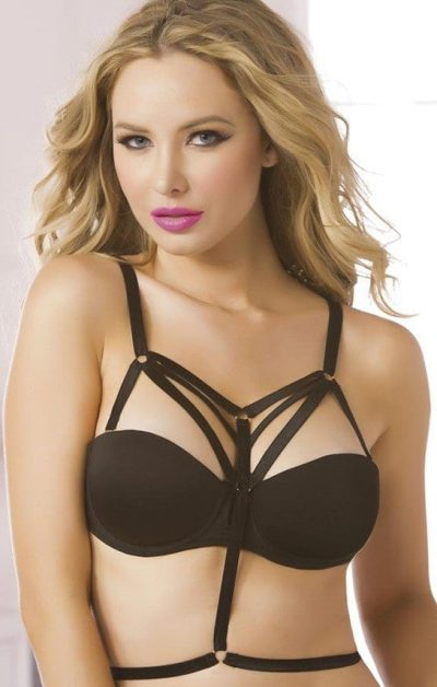 Strappy Harness black - Front - Seven Til Midnight By Valerie