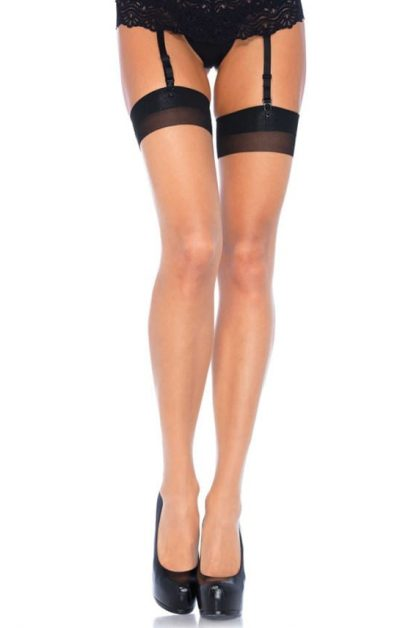 2 Tone Stockings beige-nude-no-2 - Back - Leg Avenue By Valerie