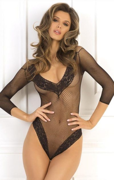 Fishnet Fantasy Body black - Front - Rene Rofé - Lingerie By Valerie
