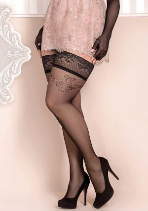 Soft Collection Stay-ups 365 black - Front - Ballerina Hosiery By Valerie