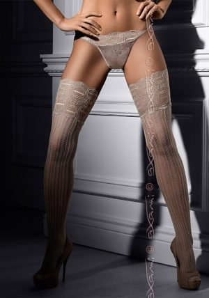 Creme Chantilly Stockings gray - Back - Axami By Valerie