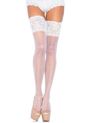 Fishnet Stockings hvit - Back - Leg Avenue By Valerie