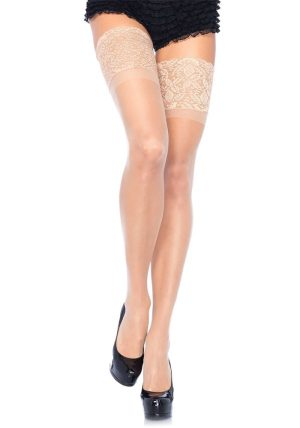 Stay-up Sheer Thigh High beige-nude - Back - Leg Avenue By Valerie