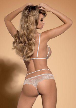Bisquitta Teddy white - Back - Obsessive - Lingerie By Valerie
