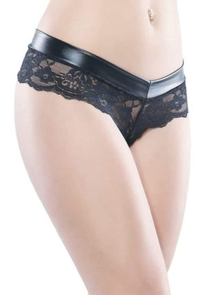 Darque Chain String Queen Size black - Back - Coquette By Valerie