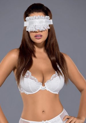 Etheria Mask white - Back - Obsessive - Lingerie By Valerie
