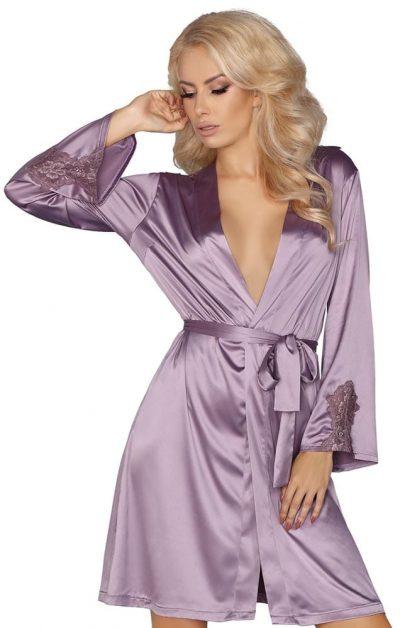 Maverick Morgenkåpe purple - Back - Livia Corsetti - Nightwear By Valerie