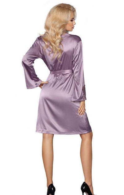 Maverick Morgenkåpe lilla - Back - Livia Corsetti - Nightwear By Valerie