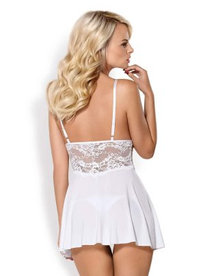 BAB Babydoll & String white - Back - Obsessive - Nightwear By Valerie