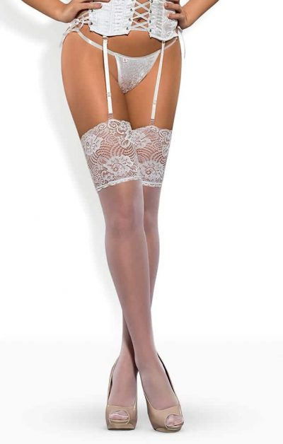 S803 Stockings white - Back - Obsessive By Valerie