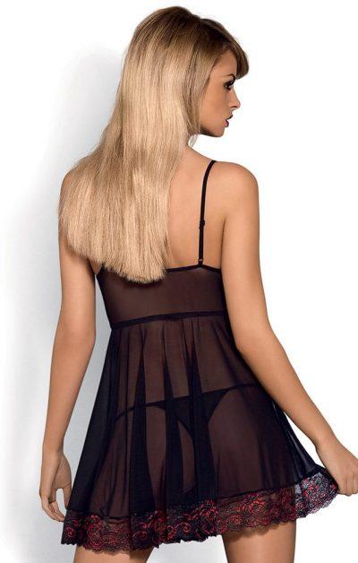 Musca Babydoll & String sort - Back - Obsessive - Nightwear By Valerie