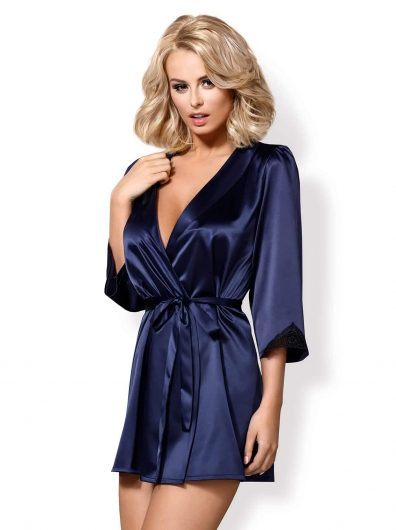 Obsessive_satinia robe dark blue