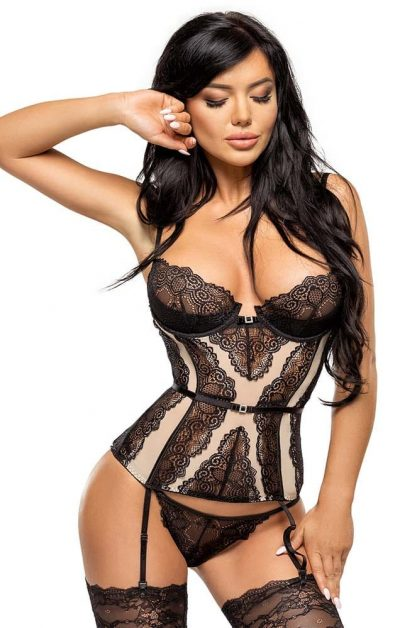 Ravenna Korsett black - Front - Beauty Night - Lingerie By Valerie