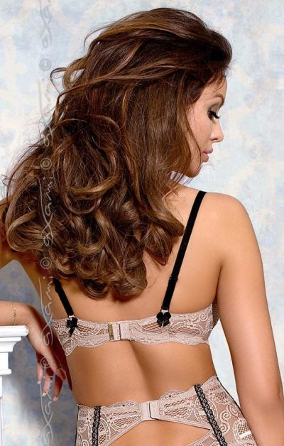 Nougat Push-up BH gray - Back - Axami By Valerie