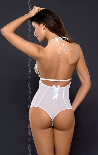 Noa Body hvit - Back - Axami - Lingerie By Valerie