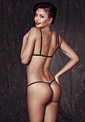 Clover Sett black - Back - Anais Apparel - Lingerie By Valerie