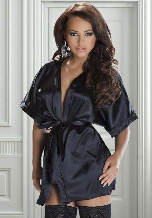 Rashida Peignor black - Back - Avenua - Nightwear By Valerie