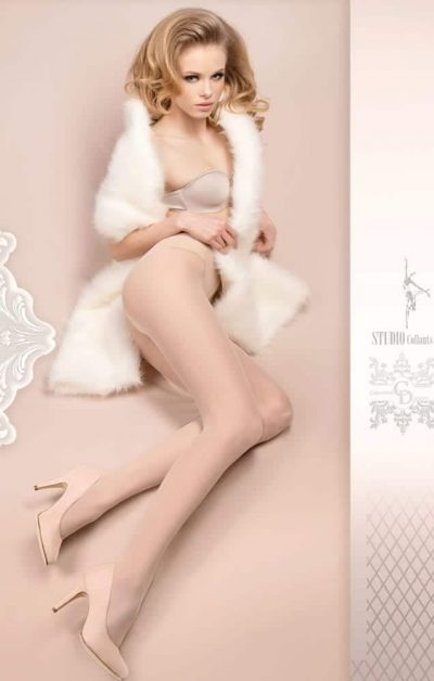 Wedding Day Stay-ups 380 white - Back - Ballerina Hosiery By Valerie