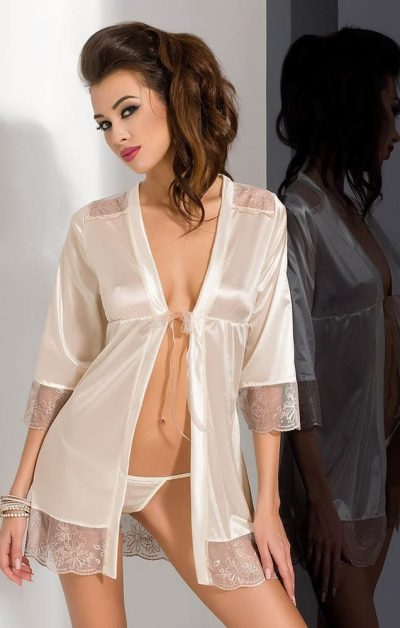 Lotus Peignoir white - Back - Passion - Nightwear By Valerie