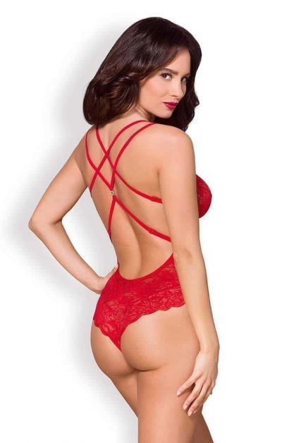 860 Camilla Teddy rod - Back - Obsessive - Lingerie By Valerie