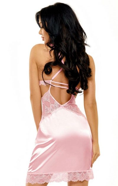 Adelaide Chemise rosa - Back - Beauty Night - Nightwear By Valerie
