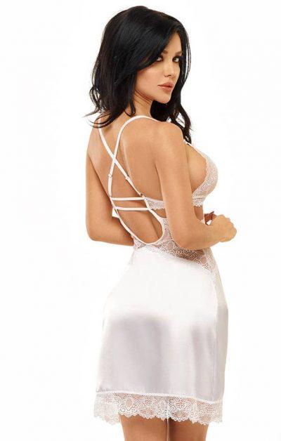 Adelaide Chemise hvit - Back - Beauty Night - Nightwear By Valerie