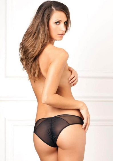 Crotchless Fishnet Brief sort – Back – Rene Rofé By Valerie