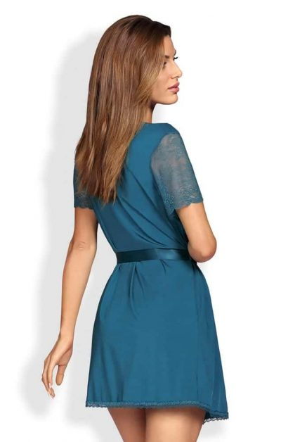 Miamor Robe & Thong bla - Back - Obsessive - Nightwear By Valerie