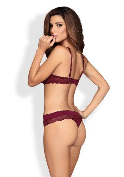 Miamor Open Bra 2 Piece Set red – Back – Obsessive – Lingerie By Valerie